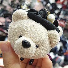 47944爪夹, 蝴蝶结, 动物动物 熊 熊猫 珠子 蝴蝶结