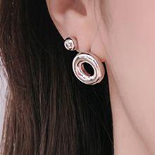 48014耳钉式圆形 圆环 圆球 六件套 C形