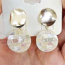 48019耳钉式, 平面/立体几何图形珠子 拼接 圆形