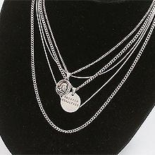48061锁链形, 多层链, 字母数字/符号, 人物人体人 五件套 圆形 字母 蛇链