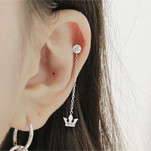 48152耳钉式, 平面/立体几何图形皇冠 圆形 耳骨耳钉