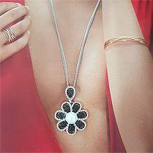 48166锁链形, 单层链, 植物花 圆形 珠子