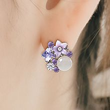 48203耳钉式花 圆形 蝴蝶