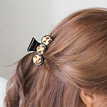48252香蕉夹圆形 豹纹 毛球