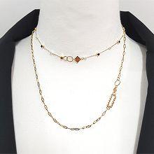 48277锁链形, 单层链, 多层链椭圆形 正方形 珠子 圆环 双层