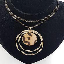 48320锁链形, 单层链, 多层链圆形 豹纹
