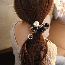 48107发圈发绳, 蝴蝶结, 平面/立体几何图形圆形 蝴蝶结 珠子