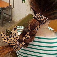 48247发圈发绳, 平面/立体几何图形圆形 豹纹 飘带