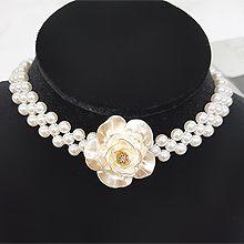48165穿珠链, 单层链花 珠子