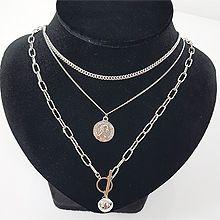 48211锁链形, 多层链, 平面/立体几何图形圆形 圆球 长方形 人 三件套
