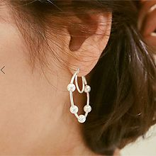 49299耳圈耳扣, 平面/立体几何图形圆环 c形 珠子