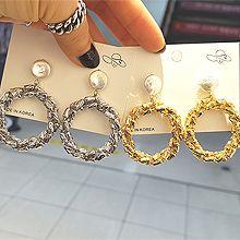 49303耳钉式珠子 圆环 长方形
