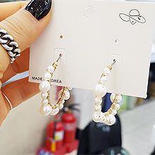 49389耳圈耳扣, 平面/立体几何图形圆形 圆环 珠子