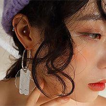 49411耳钉式, 耳圈耳扣, 平面/立体几何图形尺子 长方形 多边形