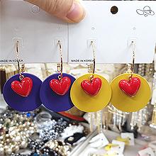 49451耳圈耳扣, 心形心形 圆形