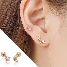 49464耳钉式, 天体自然现象, 平面/立体几何图形星星 月亮 耳骨耳钉