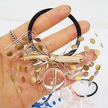 49499发圈发绳, 蝴蝶结, 平面/立体几何图形蝴蝶结 圆点 透明