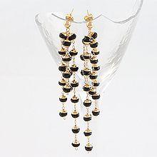 51574耳钉式流苏 珠子 珍珠