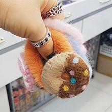 51648发圈发绳, 食物/饮料甜甜圈 圆形  毛毛