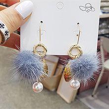 51695钩形毛球 珠子 圆形 珍珠 椭圆形