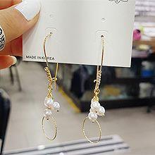 51709钩形, 耳圈耳扣圆形 珠子 圆环 珍珠