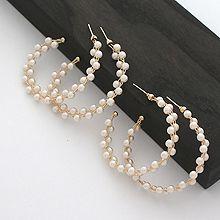 51728耳钉式C形 珍珠 珠子