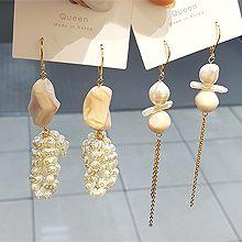 51737耳圈耳扣不规则形 珠子 珍珠