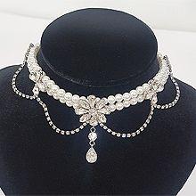 51768珠仔链, 单层链, 植物花 水滴形 珠子 珍珠 圆形