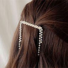 51545边夹顶夹珠子 珍珠 流苏 弹簧夹