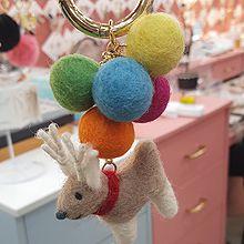 51729动物毛球 小鹿 圣诞