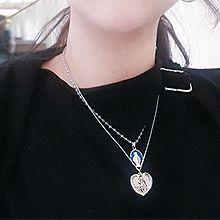 51603锁链形, 单层链, 心形, 人物人体心形 人