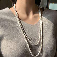 51613穿珠链, 多层链珍珠 珠子 双层 长款