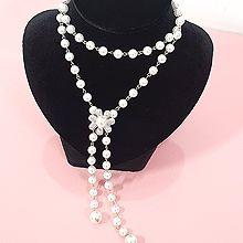 51734珠仔链, 单层链, 植物花 珍珠 珠子 长款