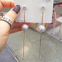 51827耳钉式珠子 珍珠 后挂式