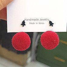 51840耳钉式, 植物, 服饰/配饰毛球 后挂式 松树 帽子 袜子 雪人 圣诞 不对称