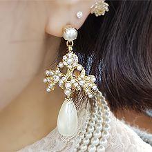 51859耳钉式珠子 水滴形 圆形 珍珠