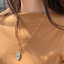 51864锁链形, 单层链, 人物人体椭圆形 珍珠 圆形 珠子 人