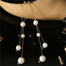 51889耳钉式水滴形 珍珠 珠子