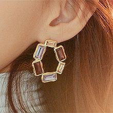 51907耳钉式圆形 长方形