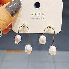 51925耳钉式圆形 珠子 珍珠