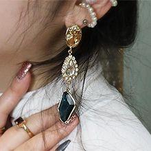 51926耳钉式圆环 人 椭圆形 珍珠 珍珠 不对称 不规则形 水滴形
