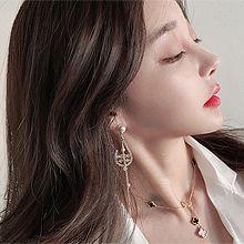 51985耳钉式珠子 圆形 水滴形 珍珠  流苏