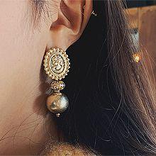 51990耳钉式圆形 珠子 人 椭圆形