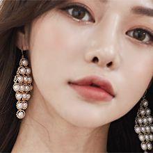 52021钩形菱形 珠子 珍珠