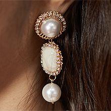 52050耳钉式圆形 珠子 珍珠 长方形 椭圆形