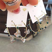 52075耳圈耳扣三角形 圆形 珠子