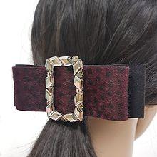 51815边夹顶夹, 蝴蝶结蝴蝶结 长方形 毛毛 弹簧夹