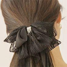 51818边夹顶夹, 蝴蝶结蝴蝶结  蕾丝 弹簧夹 珍珠 珍珠