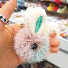 51825发圈发绳, 动物兔子 毛毛