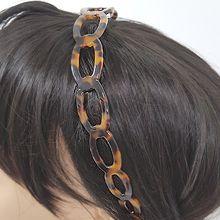 51868发箍发带发箍 椭圆形 豹纹